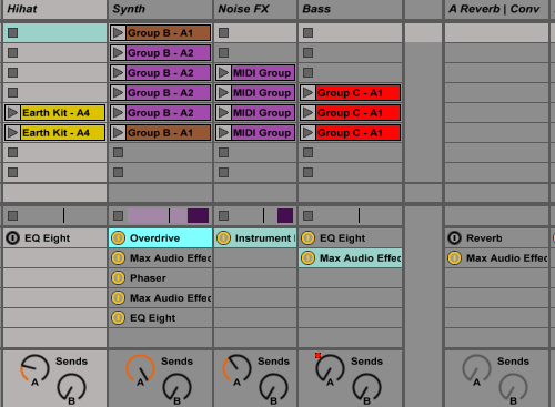 Ableton Live - show device slots