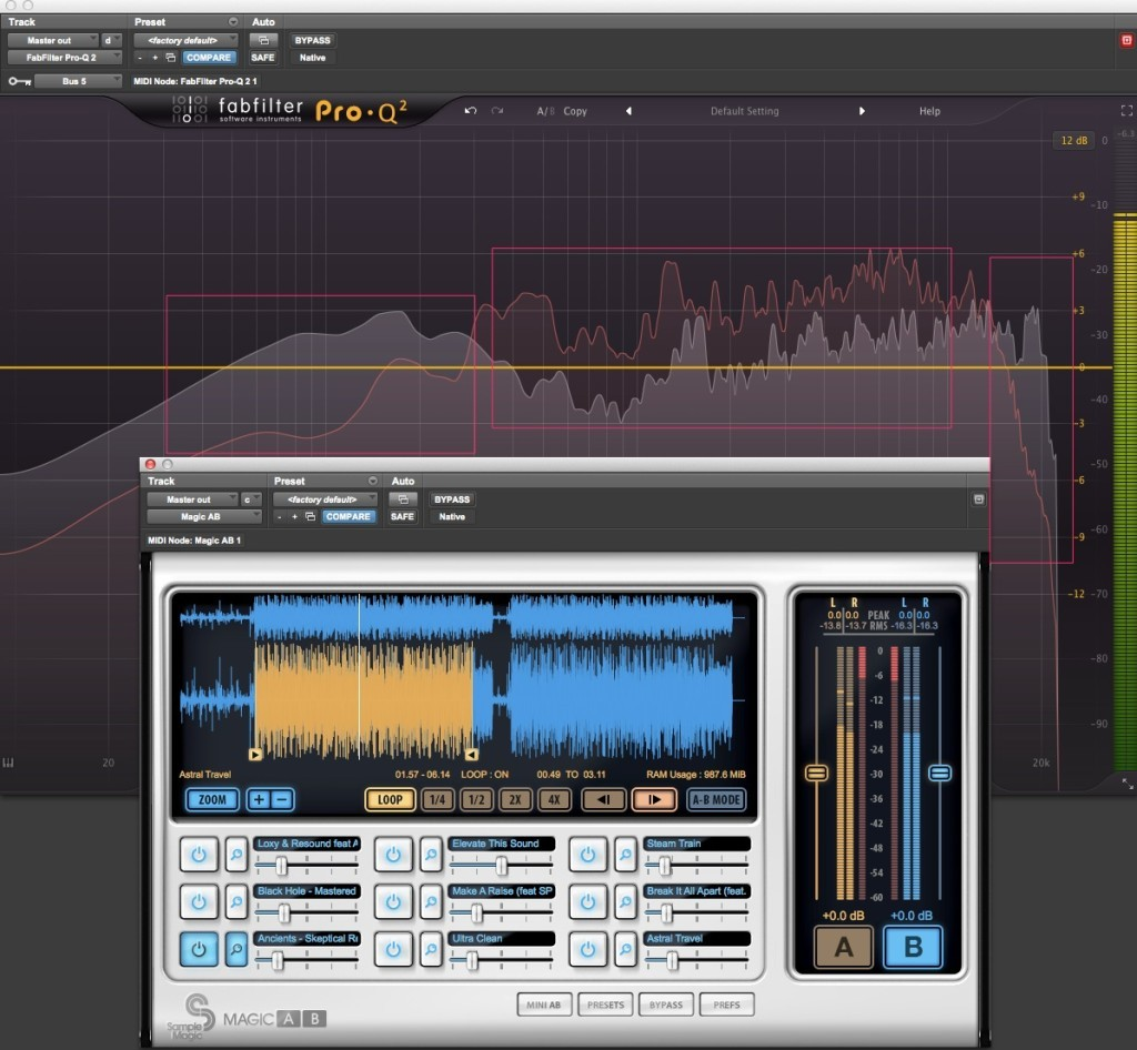 Audio spectrum analyzer: referencing