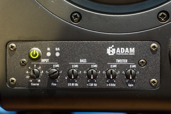 Adam S2X front panel