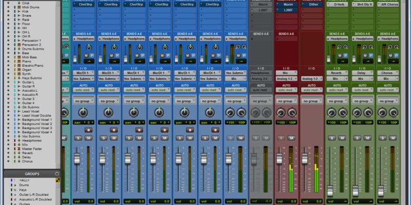 Pro Tools Mix Window