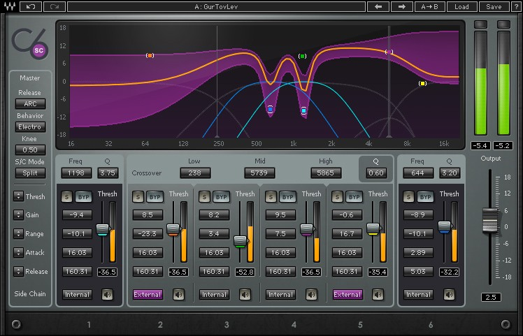 Waves C6 Multiband Compressor - Wave Plugin
