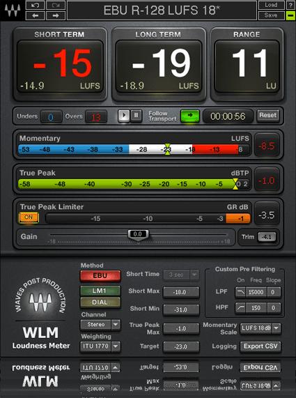 WLM Plus Loudness meter