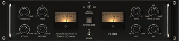 Slate Digital FG Red compressor plugin - best bus compressor plugins
