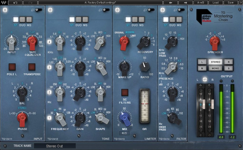 Waves Abbey Road TG Mastering Chain plugin - Best Waves Plugins for Mastering